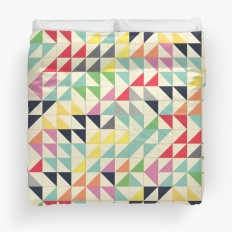 """Squares and triangles III"" Duvet Covers by metron 