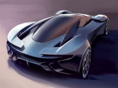 Aston Martin DP-100 Vision Gran Turismo Concept - Digital Design Sketch