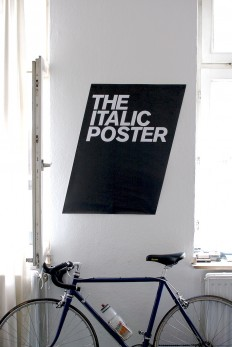 the italic poster on Inspirationde