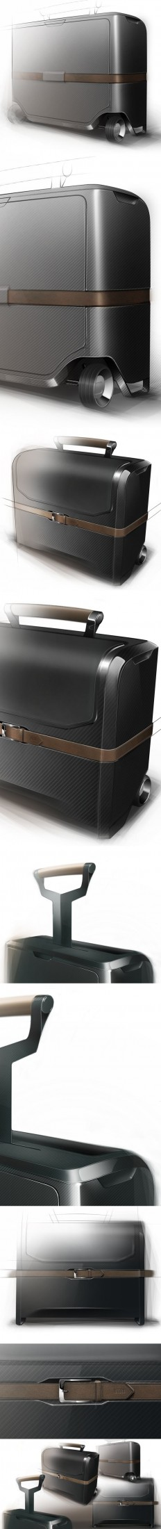 AIRLINE PILOT CASE - PERSONAL SKETCHES AND RENDERINGS by Francois Baptista, via Behance   DETAIL + CRAFTMANSHIP   Pinterest