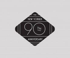 Logo for the New Yorker's 90th Anniversary. on Inspirationde