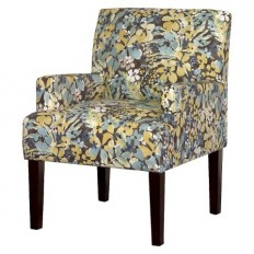 Dolce Upholstered Arm Chair - Blue/Yellow Floral : Target