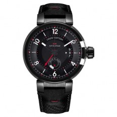 Louis Vuitton Tambour éVolution GMT In Black - Luxuryes