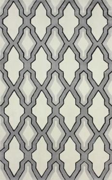 RugStudio presents Nuloom Hand Tufted Skylight Trellis Grey Hand-Tufted, Good Quality Area Rug