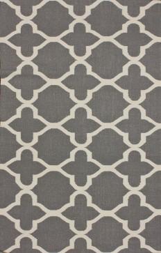 RugStudio presents Nuloom Flatweave Ayden Grey Flat-Woven Area Rug