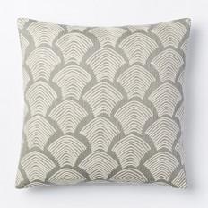 Crewel Deco Shells Pillow Cover - Platinum | West Elm