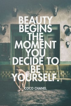 Beauty Begins The Moment You Decide To Be Yourself on Inspirationde