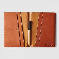 Octovo | The Globe | Men's Leather Passport Wallet