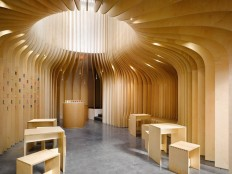 Wooden Tea Lounge by Studio Pha – Fubiz™