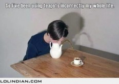 This is exactly how teapots are supposed to be used - LOL Indian - Funny Indian Pics and images