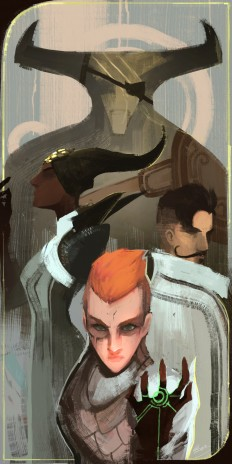 ArtStation - A Qunari, An Orlesian and a Tevinter, Lap Pun Cheung