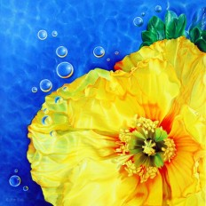 Magnificent paintings of flowers in water by Ester Roi - NetDost.com