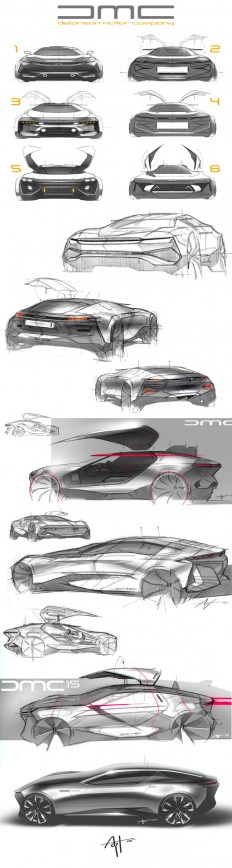 Some randon DeLorean sketches.. on
