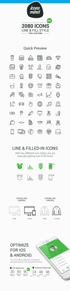 Line & Fill Style icons set on Inspirationde