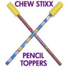 Chew Stixx Pencil Toppers (1PR)-Smooth & Textured-The Sensory Kids Sto…