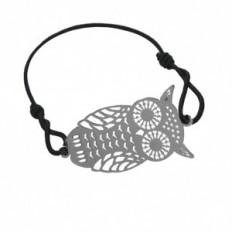 Bracelet Filigrane Elastique Hiboux Argenté - Fashiontreasure