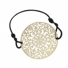 Bracelet Filigrane Elastique Mosaique Doré - Fashiontreasure
