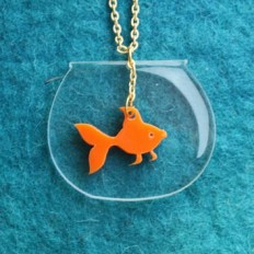 Goldfish Necklace,PlexiglassJewelry.. on from buggaLuulla | My