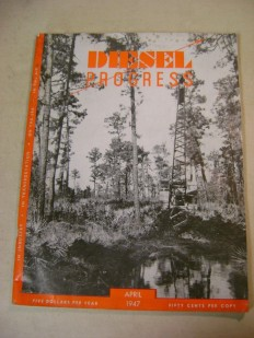 Vintage Diesel Progress April 1947 Magazine | eBay