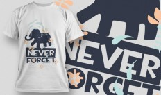 Never Forget T-shirt Design on Inspirationde
