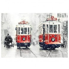 Wall decor SALE Winter Photography Tram photography by gonulk by gonulkgk | Home and Wall Decor | Pinterest
