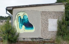 Optical illusion street art by 1010 look like layers of cut paper - NetDost.com