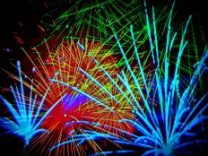 Fireworks abstract by Howard Lee - Art Print from The Untapped Source