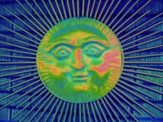 Sun face by Howard Lee