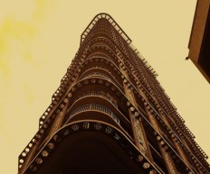 """Skyscraper from below"" Photography art prints and posters by Howard Lee - ARTFLAKES.COM"