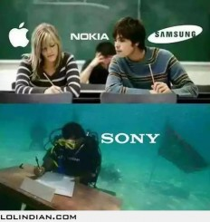 Apple vs samsung vs sony - LOL Indian - Funny Indian Pics and images