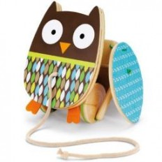 Skip Hop Treetop Flapping Owl Pull Toy-The Sensory Kids Store
