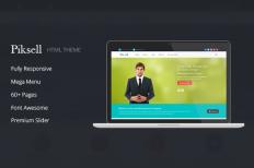 Piksell - Multipurpose html Template ~ Website Templates on Creative Market
