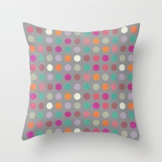 Colorful Circles IV Throw Pillow by Metron | Society6
