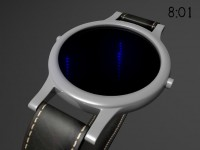 Fall Off watch uses infinity mirrors, creates the illusion of space. | Tokyoflash