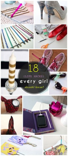 23 Life Hacks Every Girl Should Know | Easy DIY Projects for the Home | DIY | Pinterest