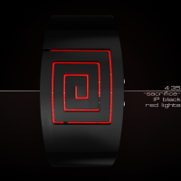 Spiraling LED Watch Design | Tokyoflash