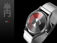 Half-circled Time Watch Design | Tokyoflash