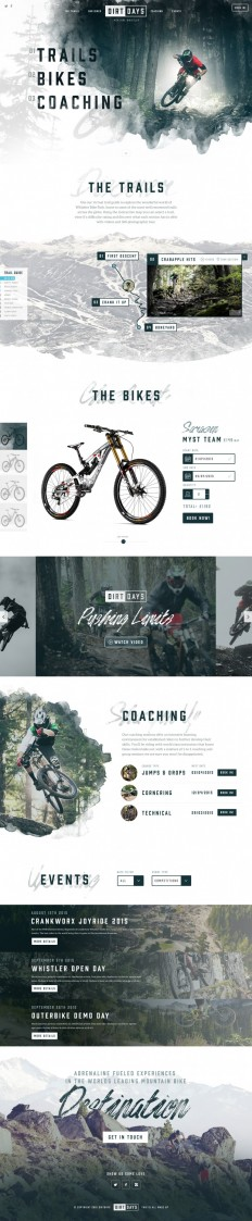 Dirtdays Website Concept on Inspirationde