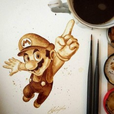 Amazing Illustrations Of Famous Characters Using Coffee by Artist Maria A from UK | photographyCC