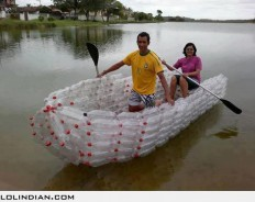 Amazing boat made from plastic bottles - LOL Indian - Funny Indian Pics and images