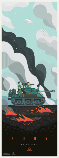 Fury Movie Poster (2014) on Inspirationde