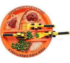 Constructive Eating Construction Plate-The Sensory Kids Store