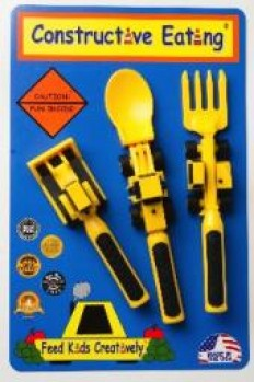 Constructive Eating Set or 3 Construction Utensils. 1 Fork Lift Fork…