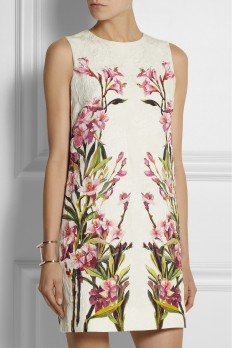 tout mode — Dolce & Gabbana Floral Print Cotton-blend Dress ...