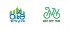 Brand New: New Logo and Identity for Bike New York by Pentagram