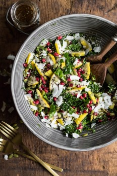 Superfood Crunch Salad with Homemade Balsamic Apple Vinaigrette — Oh She Glows