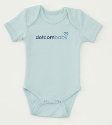 dotcom baby bodysuit - available in 4 colors
