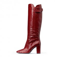 Roger Vivier Snakeskin Leather Red Sale