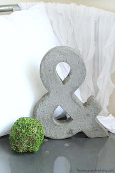 Learning Creating Living: Diy Concrete Letter & Ampersand