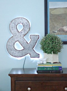 DIY Backlit Marquee Letter - Like a Saturday